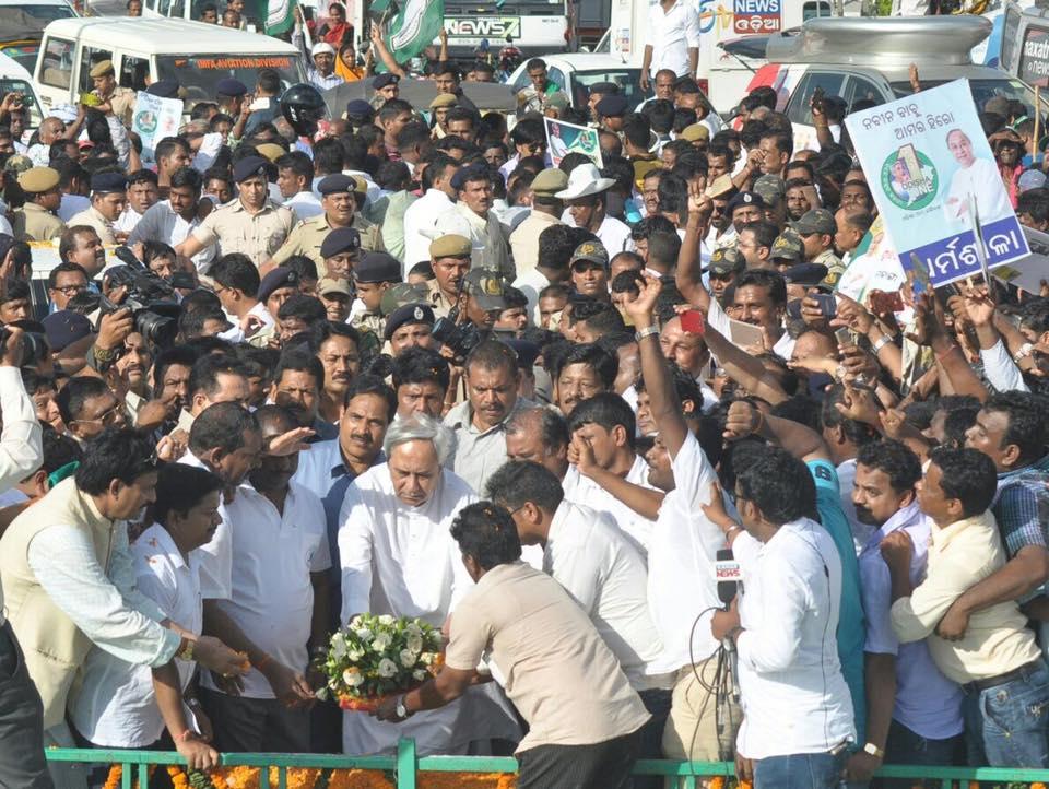 BJD opts for high-pitched celebration for Patnaik's award despite rail mishap