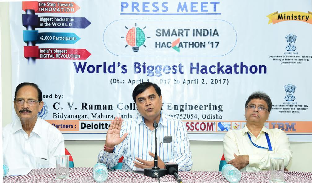 36 hours Smart India Hackathon 2017 Grand Finale at CV Raman