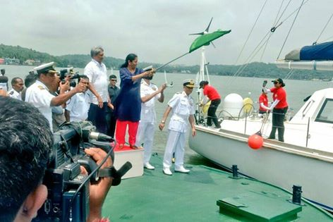 Image result for Hon'ble Raksha Mantri Flags off Navika Sagar Parikrama