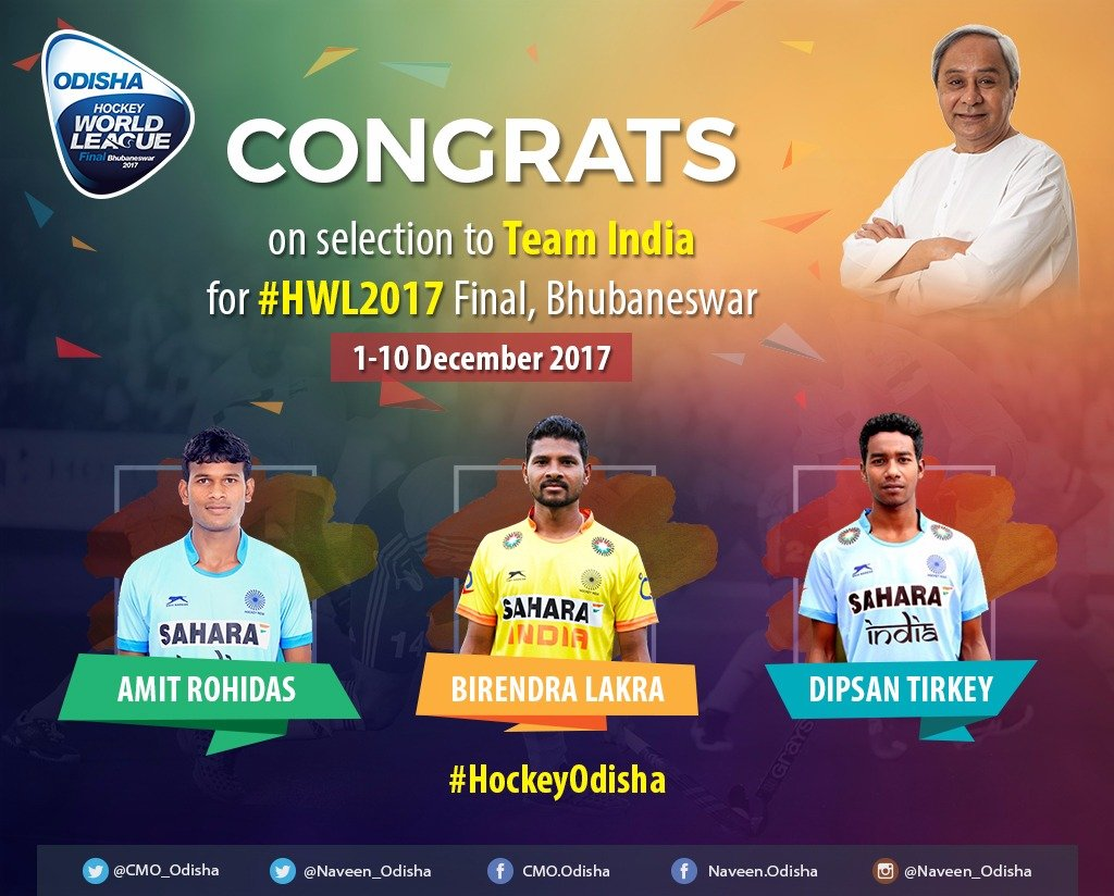 3 Odisha Players Selected In National Team For Hockey World League