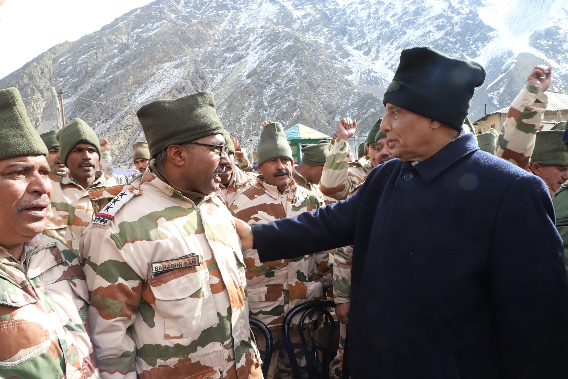 Image result for Home Minister Rajnath Singh recently visited Nelong Valley in Uttarakhand