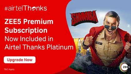 Bharti Airtel starts offering Free ZEE5 Premium subscription