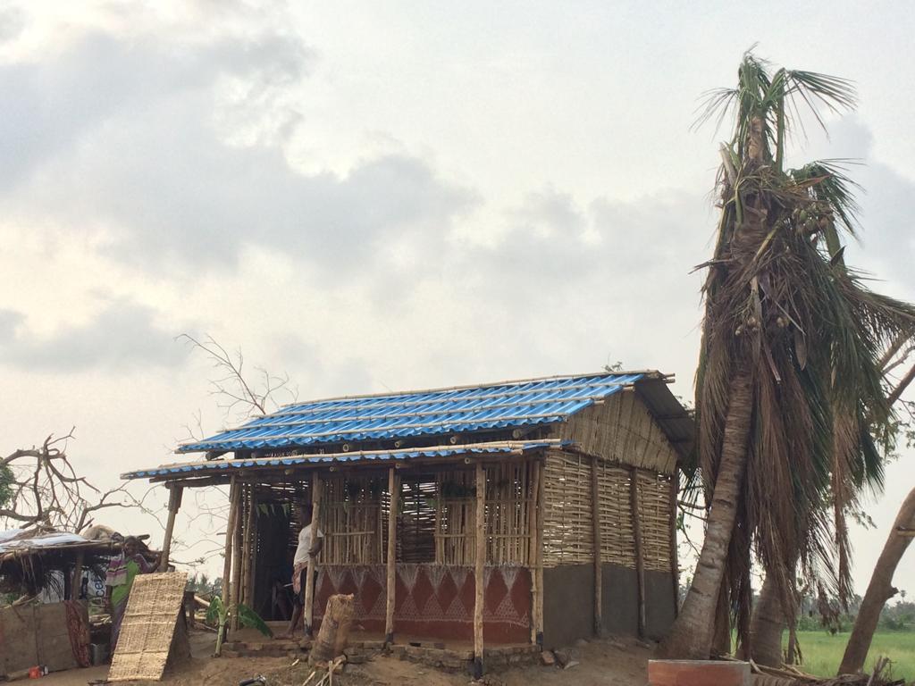 First house rebuilt after Cyclone Fani in Odisha - OdishaDiary